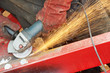 grinding machine works with sparks