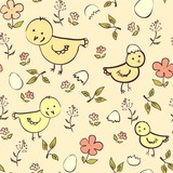 Seamless chicken background