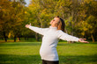 Enjoying life - expecting child in pregnancy