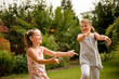 Happy childhood - dancing children
