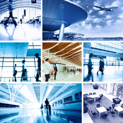business travel background about train and airplane,the concept