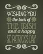 St. Patrick's Day Chalkboard Card