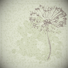 vector abstract vintage flower