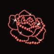 Ruby rose, vector illustration