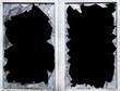glas, bruch, scherbe, eingeschlagen, fenster - 49900119