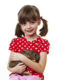 little girl with little easter rabbit
