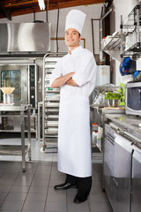 Confident Male Chef In Kitchen