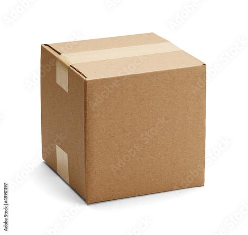 canvas print picture Brown Cardboard Box