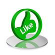 Like 3d grün