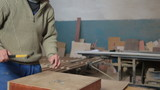 Furniture maker at work