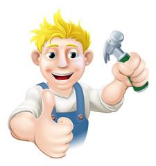 Cartoon carpenter or construction guy
