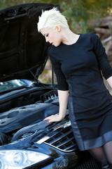 Lady Near the Car