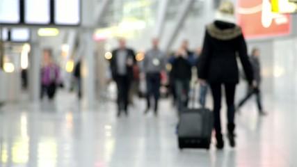 blurred passengers