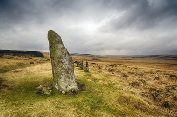 Standing Stones at Scorhill on Dartmoor