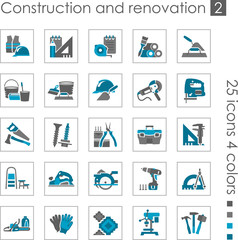 Constraction and renovation icons 2