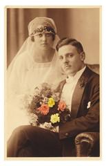 Hochzeitspaar vor 90 Jahren
