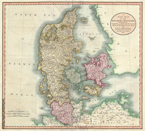Denmark old map