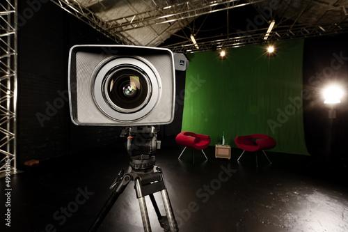 Telewizor obiektywów w studio Green Screen