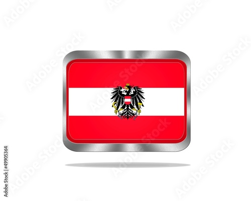 Metal Austria flag.