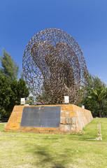 Tsunami memorial in a park