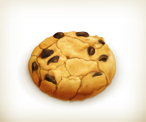 Chocolate cookie, icon