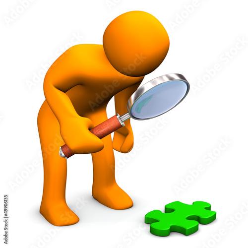 Manikin Loupe Green Puzzle