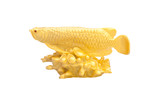 Golden fish used as a Feng Shui item to enhance wealth poster