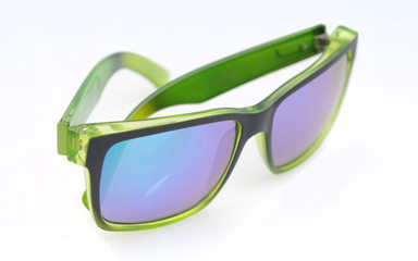 Stylish green and black sunglasses