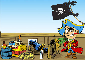 funny young pirate