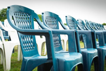 Rows of chairs