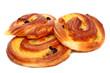 Fresh tasty buns with raisins