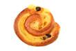 Homemade bun with raisins