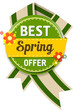 Spring offer label