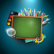 Modern school vector background with copyspace