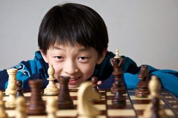 Kid Playing Chess