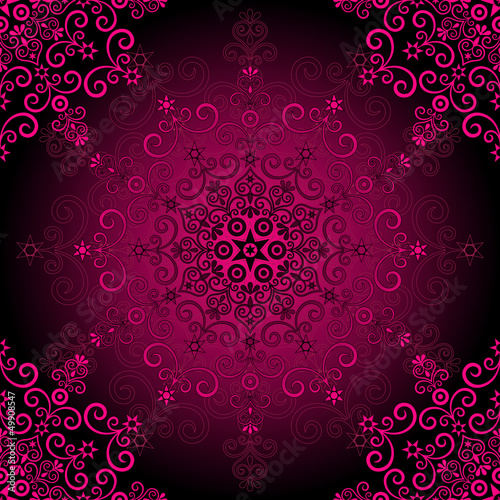 Seamless purple vintage pattern