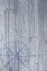Windrose hellblau