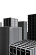 dark architecture drawing of city full with skyscraper
