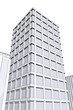 drawing of modern office block in big city
