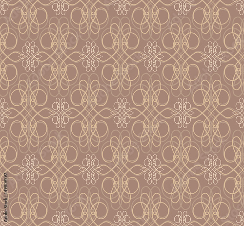 Retro seamless pattern. floral background. Vintage Ornament.