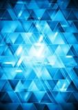 Vibrant blue hi-tech vector design