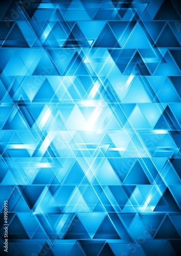 Deurstickers ZigZag Vibrant blue hi-tech vector design