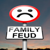 Family feud concept sign.