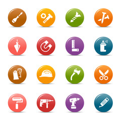 Colored Dots - Tools and Construction icons
