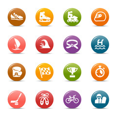 Colored Dots - Sport icons