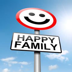 Happy family concept sign.