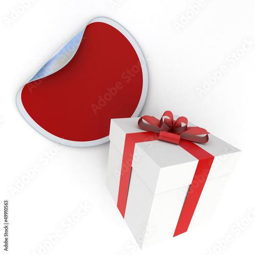 Gift box and sticker