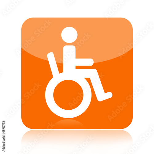 Handicapped person in wheelchair icon