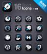 Black Squares -  Sport icons