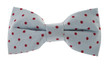 Dotted bow tie blue with red spots
